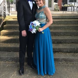 Blue Sherri Hill Prom Dress